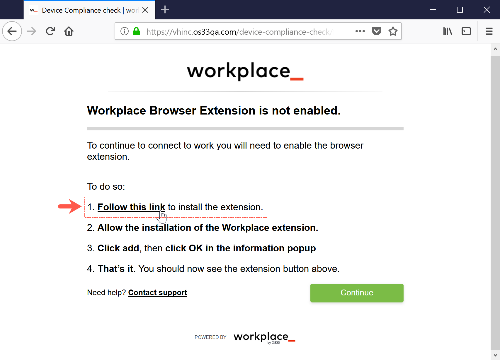 Install Frontline in Firefox on Windows – workplace help center_